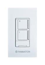 Fanimation WR501WH - Wall Control with Receiver - 3 Fan Speeds & Light - WH