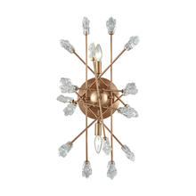 ELK Lighting 11110/2 - Serendipity 2-Light Wall Lamp in Matte Gold with Clear Bubble Glass