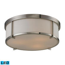 ELK Lighting 11465/3-LED - Flushmounts 3 Light LED Flushmount In Brushed Ni