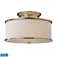 ELK Lighting 20061/2-LED - Lureau 2 Light LED Semi Flush In Polished Nickel