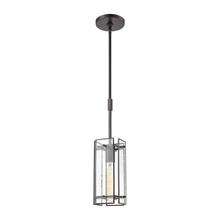 ELK Lighting 32391/1 - Hyde Park 1-Light Mini Pendant in Oil Rubbed Bronze with Seedy Glass