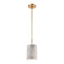 ELK Lighting 32393/1 - Lexington Avenue 1-Light Mini Pendant in Antique Gold Leaf with Thick White Marble