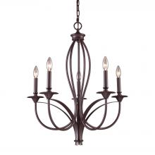 ELK Lighting 61032-5 - Medford 5 Light Chandelier In Oiled Bronze