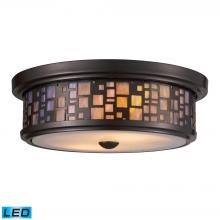 ELK Lighting 70027-2-LED - Tiffany Flushes 2 Light LED Flushmount In Oiled