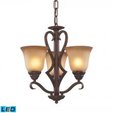 ELK Lighting 9326/3-LED - Lawrenceville 3 Light LED Chandelier In Mocha Wi