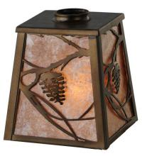 "Meyda Tiffany 116293 - 5""Sq Whispering Pines Shade"
