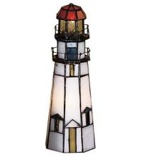 "Meyda Tiffany 20536 - 9""H The Lighthouse on Marble Head Accent Lamp"