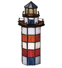 "Meyda Tiffany 20538 - 10""H The Lighthouse on Hilton Head Accent Lamp"